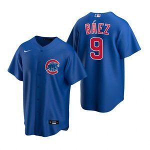 Chicago Cubs #9 Javier Baez Jersey Royal